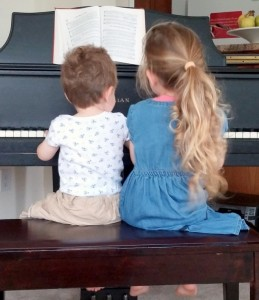Nehemiah & Serena Grace at the piano!